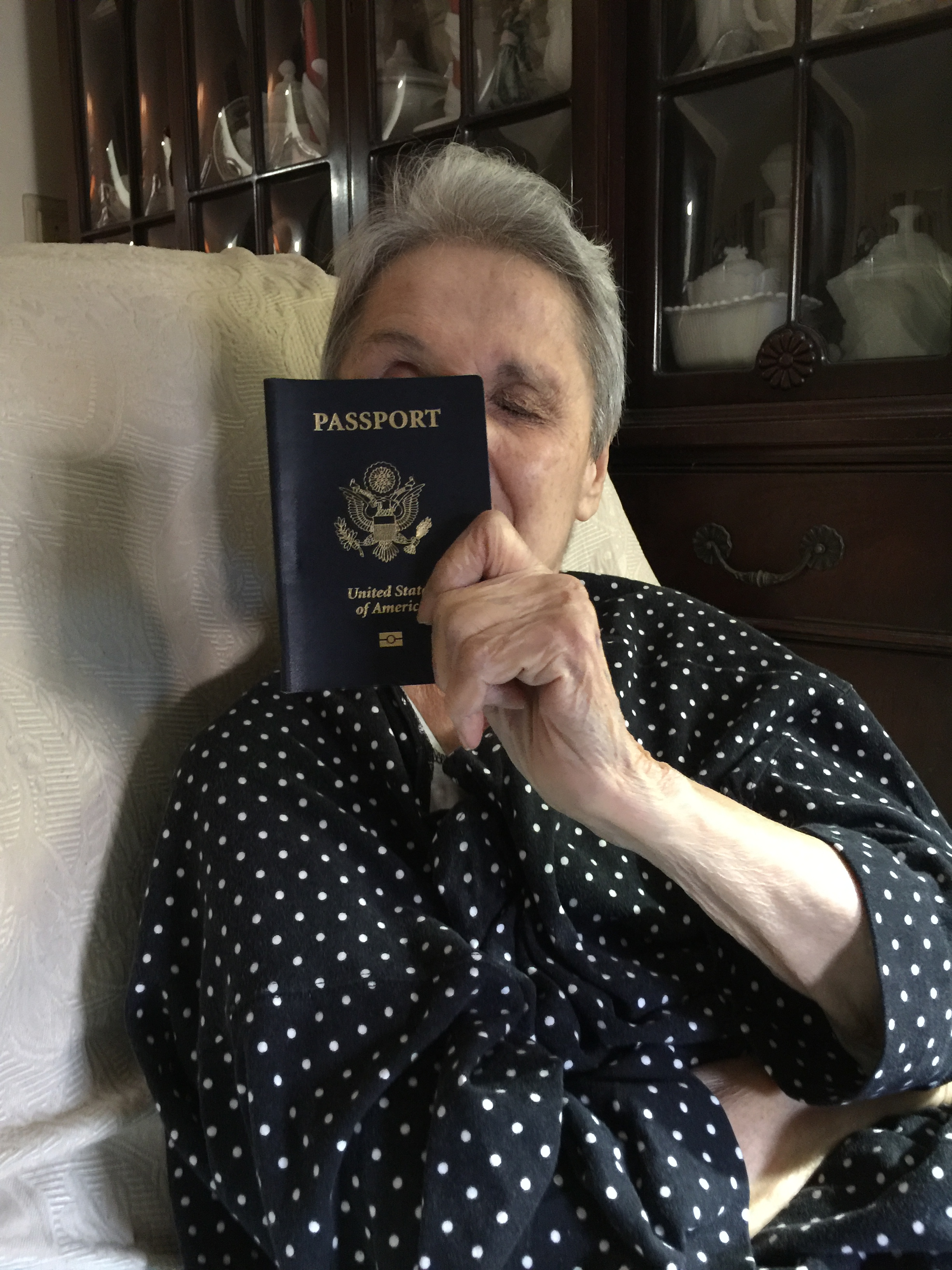 Helen with Passport